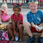 Kids on curb